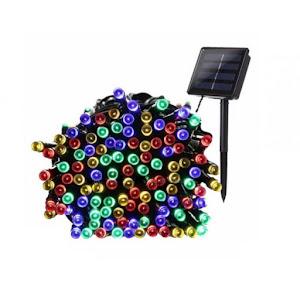 Instalatie multicolora 300 LED cu panou solar si controler, lungime 30 metri
