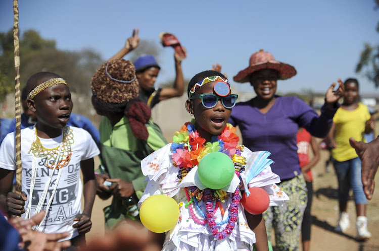 Limpopo initiates being welcomed home on 19 July 2017.