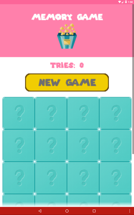 MemoryGame- screenshot