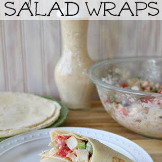 Chipotle Ranch Chicken Salad Wraps