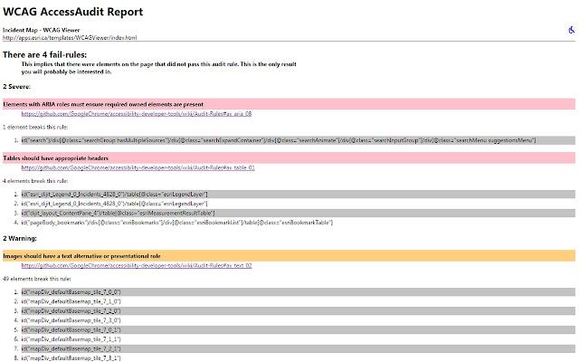 WCAG Accessibility Audit Developer UI - Chrome Web Store