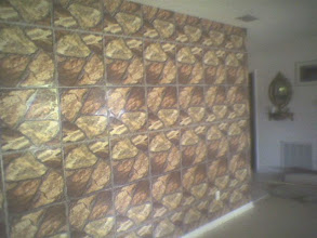 Photo: finished tiled wall