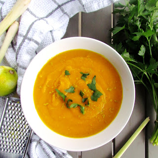Asian Carrot Soup With Coconut And Lemongrass