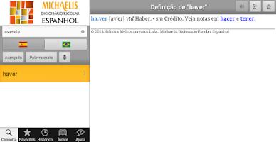 Screenshot of Michaelis Escolar Espanhol