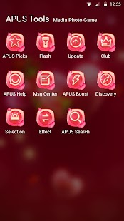 Red rose love-APUS launcher  free theme - náhled