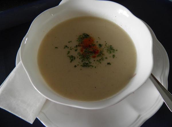 Cream Of Cauliflower Soup Sans Cream Recipe