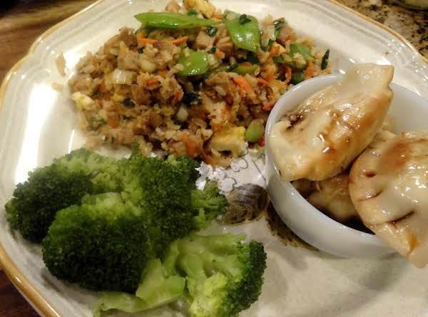 Pot Sticker Rice Bowl -- Bonnie's Recipe