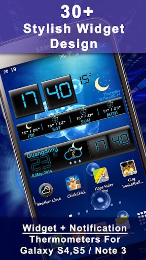 Weather Rise Clock 30+ Widgets 4.2.2 screenshots 1