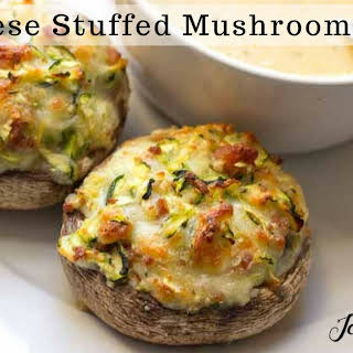 Two Cheese Stuffed Mushrooms – Low Carb, THM S.