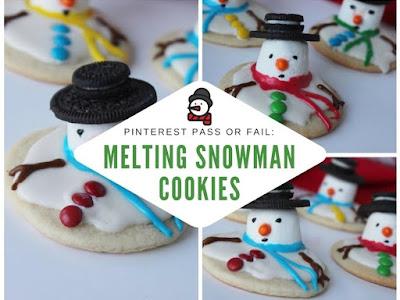 Pinterest Pass or Fail: Melting Snowman Cookies