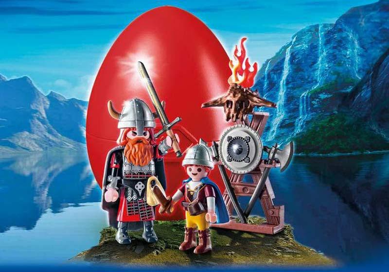 Contenido real de Playmobil® 9209 Vikingos con Escudo