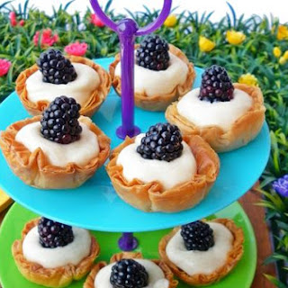 Little Phyllo Cakes With Blackberry.