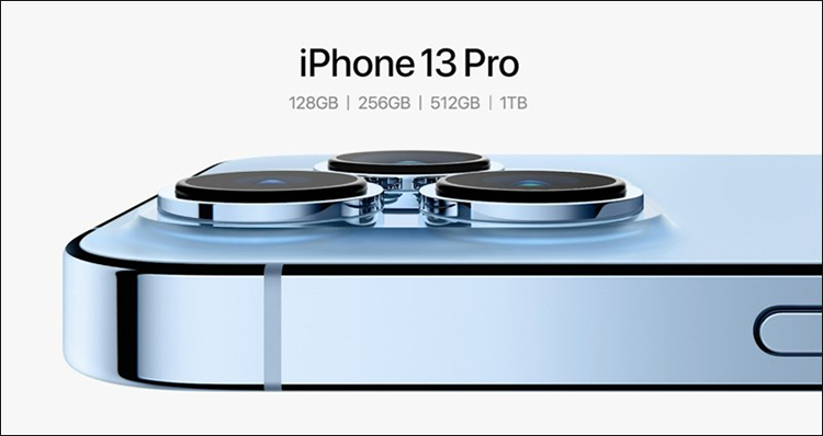 iPhone 13 Pro có thêm tùy chọn bộ nhớ 1TB