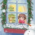 Christmas Wishing Girl icon