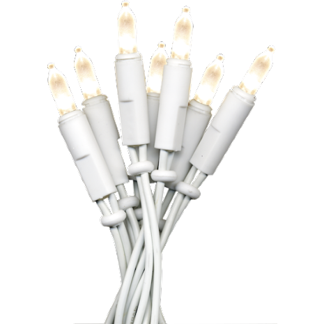 P-LED inomhus ljusslinga 20 ljus Varmvit Vit kabel