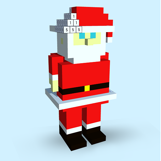 Christmas 3d Color By Numberpixel Art 3d Coloring