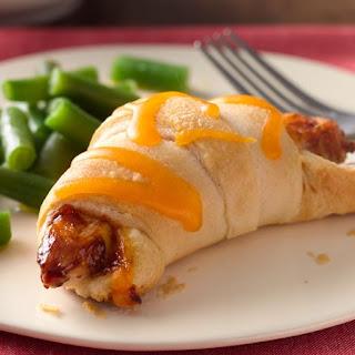 Easy BBQ Chicken Crescents.
