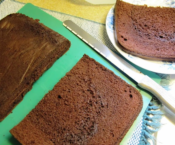 Back to the Cake, when cooled considering we are a family of two I...