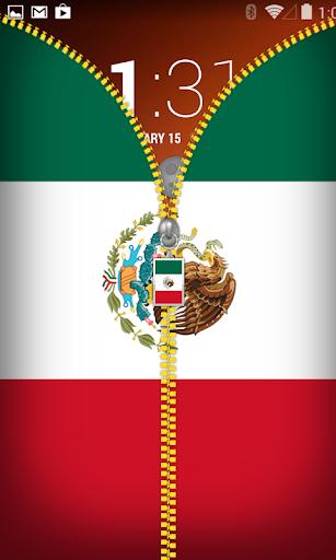 Mexico Flag Zipper Lockscreen