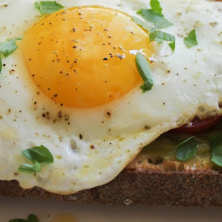 Simple Egg and Guacamole Toast