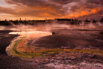 Photo: Devil's Playground, Yellowstone National Park, WY BEST VIEWED LARGE  This was one of the most stunning scene I have seen from all my visits to Yellowstone. The storm broke up at the right time and I was there at a fantastic place (Noris Geyser Basin) to capture it.  How was this photo created? This photo was taken using a soft GND Filter. At the time, my blending skills were not quite ready to capture a scene like this one so I used a GND filter to balance out the light. Even with the filter, I had to use photoshop layers and mask to bring out the details in all parts of the image.  Enjoy & Share. _____________ #landscapephotography, #photography  #photographytips