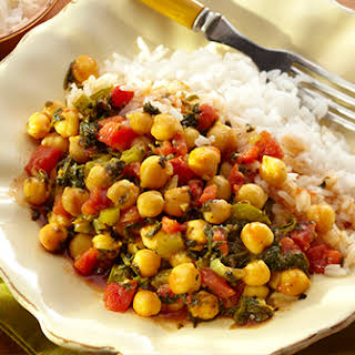 Curried Garbanzo Beans and Rice.