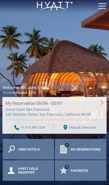 Hyatt Hotels screenshots