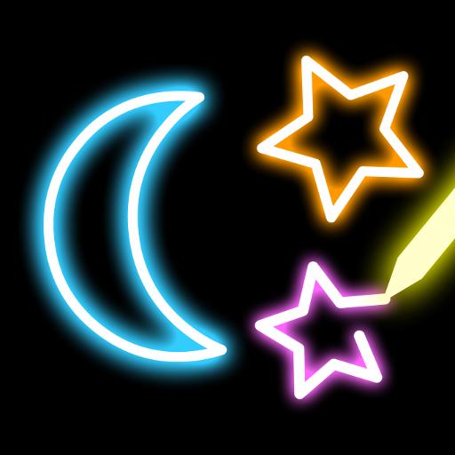 Neon Blink Draw - 그림 그리기 어플 遊戲 App LOGO-硬是要APP