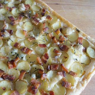 Potato Tart with Bacon, Cheese & Rosemary.