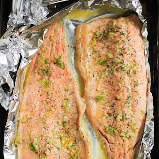 Garlic Butter Rainbow Trout in Foil.
