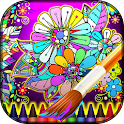 Coloring Mandalas of Flowers icon
