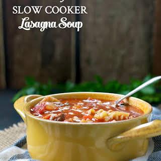 Healthy Slow Cooker Lasagna Soup.