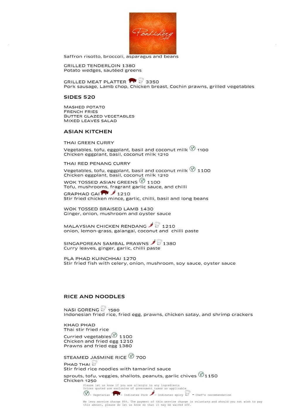 Pondichery Cafe - Sofitel menu 7