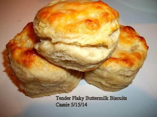 Tender,  Flaky, Buttermilk Biscuits Recipe