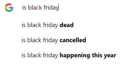 google search barr: is black friday...