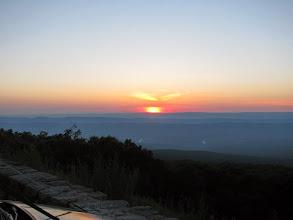 Photo: Sunset at FM08US - Hogback Mtn. Shenandoah VA