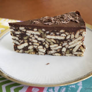No Bake Chocolate Biscuit Cake.