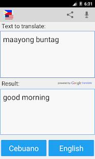 Cebuano tlumočník slovník - náhled