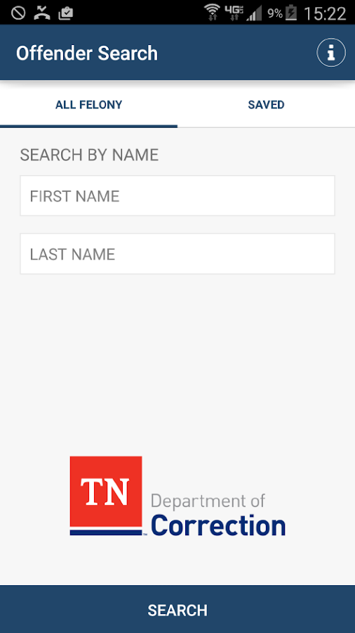 TN Felony Offender Search- screenshot