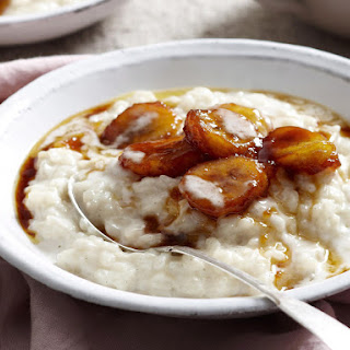 Creamed Coconut Rice with Caramel Bananas