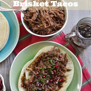 Pomegranate Brisket Tacos