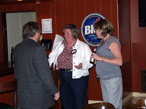 Photo: Richard Albert, Cathy Godin, Christine Kemp, Labatt's Blue.  What an ensemble!