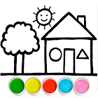 Glitter House coloring and drawing for Kids
