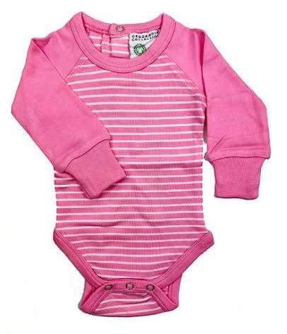 Geggamoja Body LS Pink/White Stripe