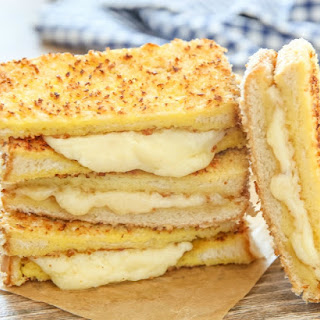 Panko Crusted Grilled Cheese Sandwiches