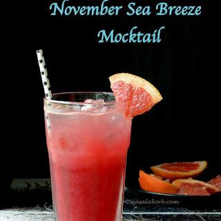Sea Breeze Mocktail | November Sea Breeze | Seabreeze Drink | Summer Drinks.