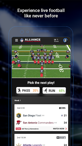 Screenshot for Alliance of American Football in United States Play Store