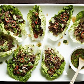 Gordon Ramsay's chilli beef lettuce wraps.