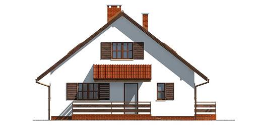Dom przy Cyprysowej - Elewacja przednia
