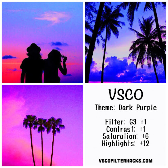 Dark Purple Instagram Feed Using VSCO Filter G3